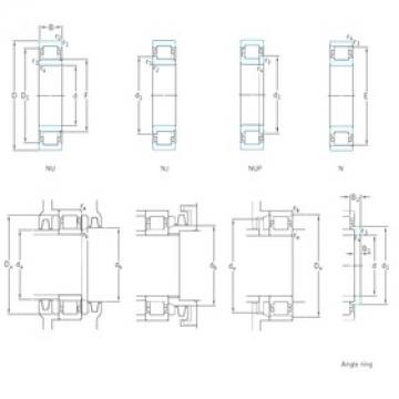 80 mm x 200 mm x 48 mm  SKF NJ416 cylindrical roller bearings