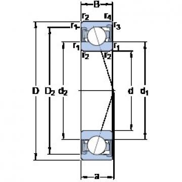 110 mm x 170 mm x 28 mm  SKF S7022 CD/HCP4A angular contact ball bearings