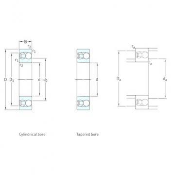 95 mm x 170 mm x 32 mm  SKF 1219K self aligning ball bearings