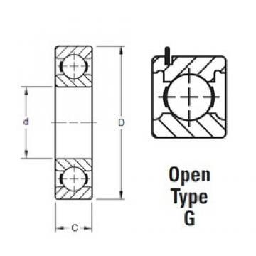 45 mm x 75 mm x 16 mm  Timken 9109KG deep groove ball bearings