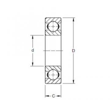 70 mm x 110 mm x 20 mm  Timken 9114K deep groove ball bearings