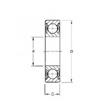 25 mm x 62 mm x 25,4 mm  CYSD W6305-ZZ deep groove ball bearings