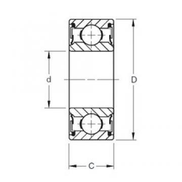 10 mm x 30 mm x 9 mm  Timken 200PP deep groove ball bearings