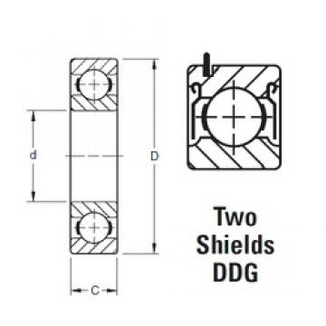 10 mm x 30 mm x 9 mm  Timken 200KDDG deep groove ball bearings