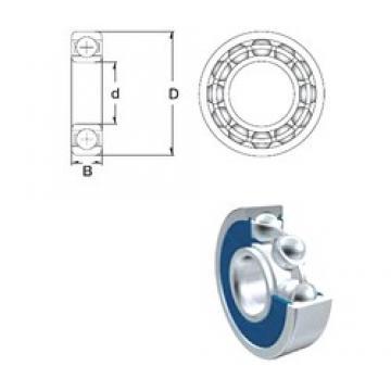 6 mm x 17 mm x 6 mm  ZEN 606-2RS deep groove ball bearings