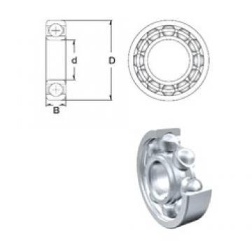 6 mm x 17 mm x 6 mm  ZEN S606-2Z deep groove ball bearings