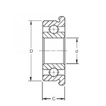 5 mm x 14 mm x 5 mm  ZEN F605 deep groove ball bearings