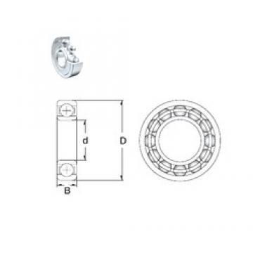 95 mm x 170 mm x 32 mm  ZEN 6219-2Z deep groove ball bearings