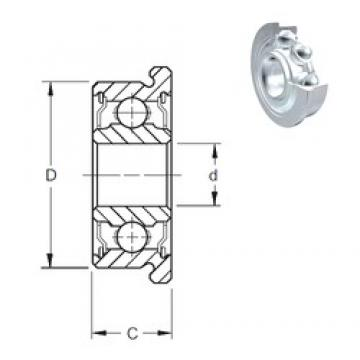 5 mm x 14 mm x 5 mm  ZEN F605-2Z deep groove ball bearings