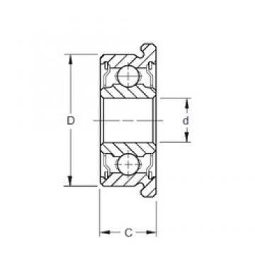 6 mm x 17 mm x 6 mm  ZEN F606-2RS deep groove ball bearings