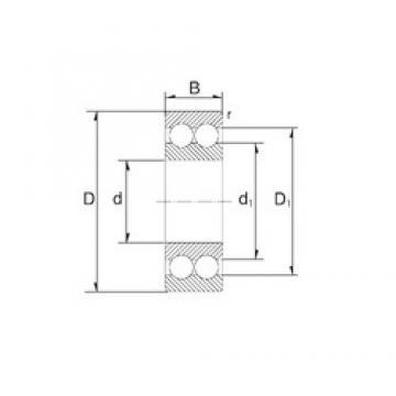 25 mm x 62 mm x 25,4 mm  ZEN 3305 angular contact ball bearings