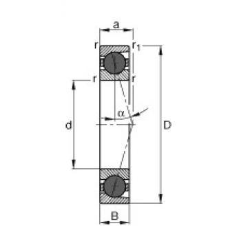10 mm x 30 mm x 9 mm  FAG HCB7200-C-T-P4S angular contact ball bearings