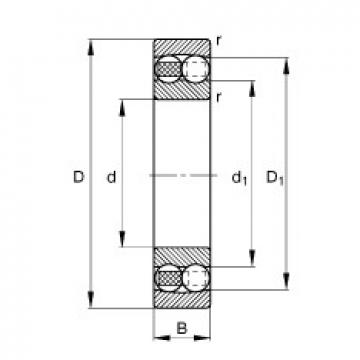 95 mm x 170 mm x 32 mm  FAG 1219-M self aligning ball bearings