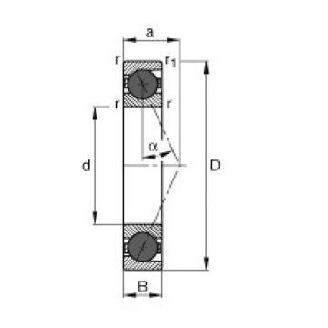 45 mm x 75 mm x 16 mm  FAG HCB7009-E-T-P4S angular contact ball bearings