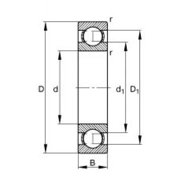 110 mm x 140 mm x 16 mm  FAG 61822-Y deep groove ball bearings
