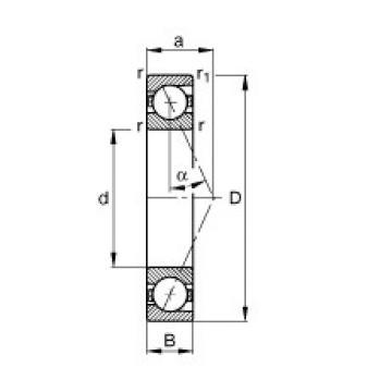 45 mm x 75 mm x 16 mm  FAG B7009-E-T-P4S angular contact ball bearings