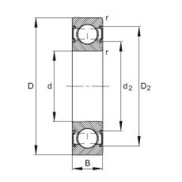 10 mm x 30 mm x 9 mm  FAG 6200-C-2HRS deep groove ball bearings