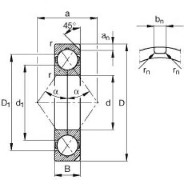 150 mm x 320 mm x 65 mm  FAG QJ330-N2-MPA angular contact ball bearings