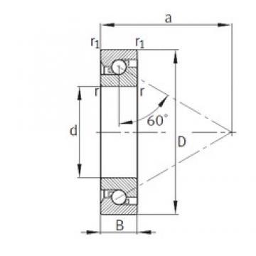95 mm x 170 mm x 32 mm  FAG 7602095-TVP thrust ball bearings