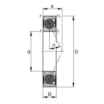 70 mm x 110 mm x 20 mm  FAG HCB7014-E-2RSD-T-P4S angular contact ball bearings