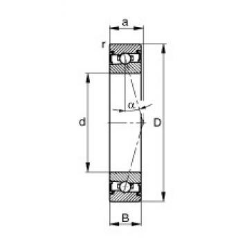 70 mm x 110 mm x 20 mm  FAG HSS7014-C-T-P4S angular contact ball bearings