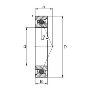 70 mm x 110 mm x 20 mm  FAG HC7014-E-T-P4S angular contact ball bearings