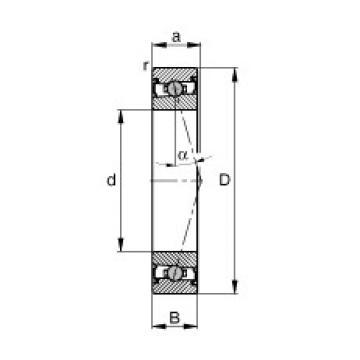105 mm x 145 mm x 20 mm  FAG HCS71921-C-T-P4S angular contact ball bearings