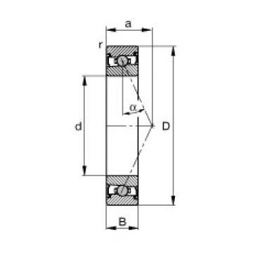 105 mm x 145 mm x 20 mm  FAG HCS71921-E-T-P4S angular contact ball bearings