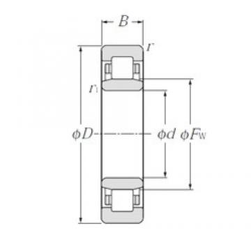 110 mm x 200 mm x 53 mm  NTN NU2222 cylindrical roller bearings