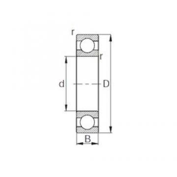 110 mm x 140 mm x 16 mm  CYSD 6822 deep groove ball bearings
