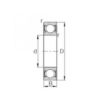 10 mm x 30 mm x 9 mm  KBC 6200DD deep groove ball bearings