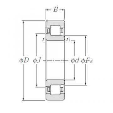 70 mm x 110 mm x 20 mm  NTN NJ1014 cylindrical roller bearings