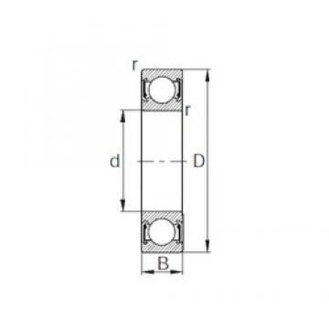 10 mm x 30 mm x 9 mm  KBC 6200UU deep groove ball bearings