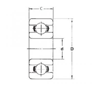 6 mm x 17 mm x 6 mm  FBJ 606ZZ deep groove ball bearings