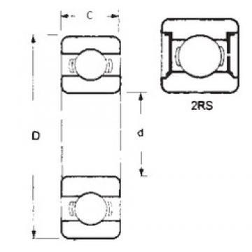 95 mm x 170 mm x 32 mm  FBJ 6219-2RS deep groove ball bearings