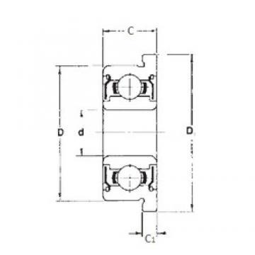 5 mm x 14 mm x 5 mm  FBJ F605ZZ deep groove ball bearings
