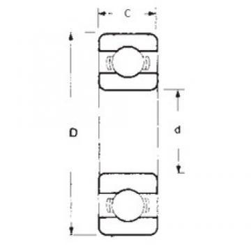 95 mm x 200 mm x 45 mm  FBJ 6319 deep groove ball bearings