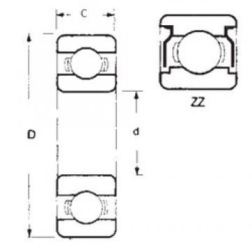 10 mm x 30 mm x 9 mm  FBJ 6200ZZ deep groove ball bearings