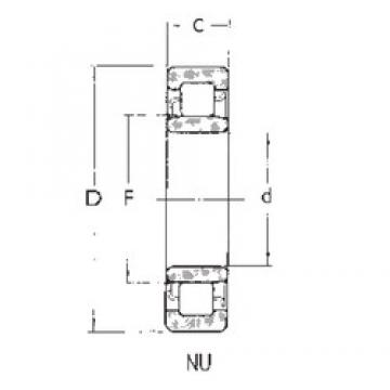 70 mm x 110 mm x 20 mm  FBJ NU1014 cylindrical roller bearings