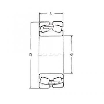 110 mm x 200 mm x 53 mm  FBJ 22222 spherical roller bearings