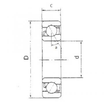 95 mm x 170 mm x 32 mm  FBJ 7219B angular contact ball bearings
