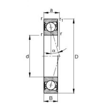 105 mm x 145 mm x 20 mm  FAG B71921-C-2RSD-T-P4S angular contact ball bearings