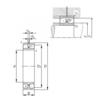 280 mm x 500 mm x 130 mm  FAG 22256-E1A-MB1 spherical roller bearings