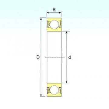 110 mm x 140 mm x 16 mm  ISB 61822-2RZ deep groove ball bearings