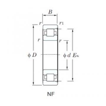 220 mm x 460 mm x 88 mm  KOYO NF344 cylindrical roller bearings