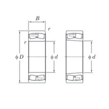 280 mm x 500 mm x 130 mm  KOYO 22256RHA spherical roller bearings
