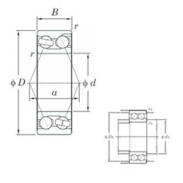 25 mm x 62 mm x 25.4 mm  KOYO 3305 angular contact ball bearings