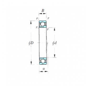 105 mm x 145 mm x 20 mm  KOYO 7921CPA angular contact ball bearings