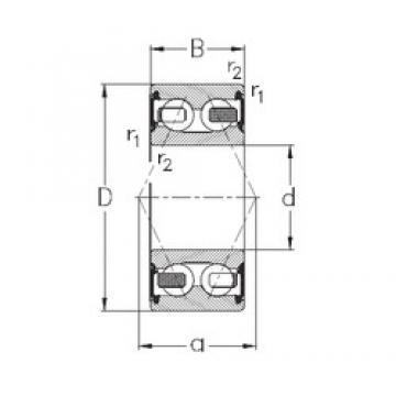 25 mm x 62 mm x 25,4 mm  NKE 3305-B-2RSR-TV angular contact ball bearings