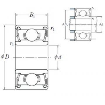 6 mm x 17 mm x 6 mm  ISO 606-2RS deep groove ball bearings